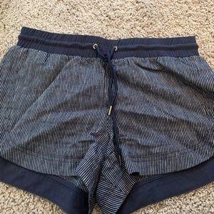 Athleta stripped navy shorts